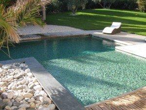 piscine en pâte de verre DOLCE MOSAIC référence VERT PROFOND (photo principale)